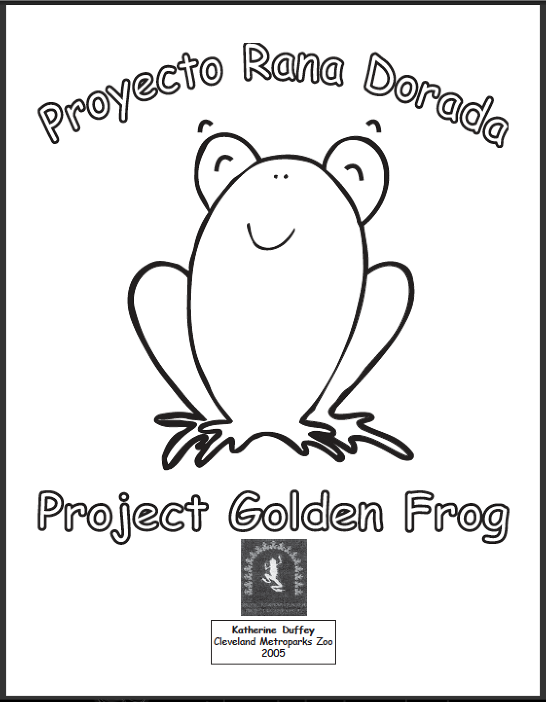 the panamanian golden frog coloring book